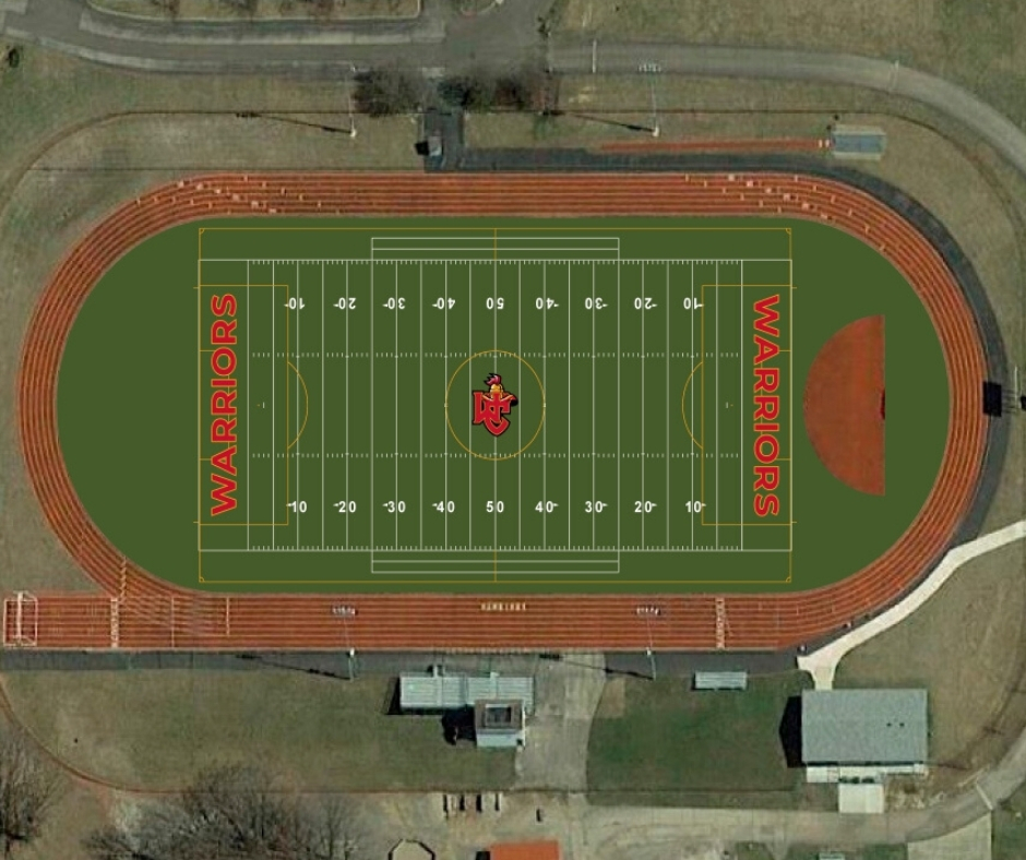 Field Turf Aerial View