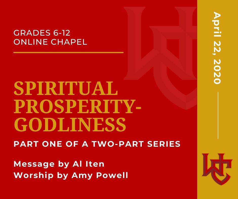 Spiritual Prosperity-Godliness