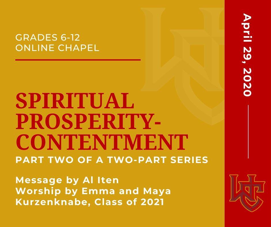 Spiritual Prosperity-Contentment
