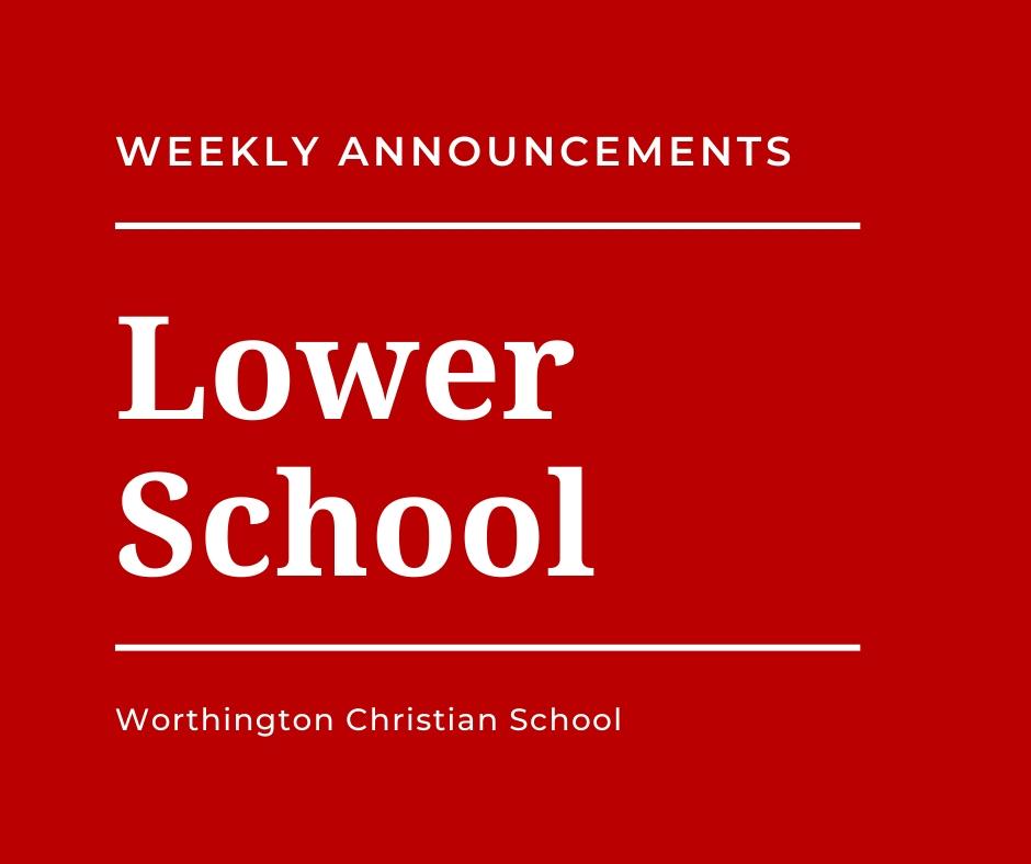 Lower School Announcements